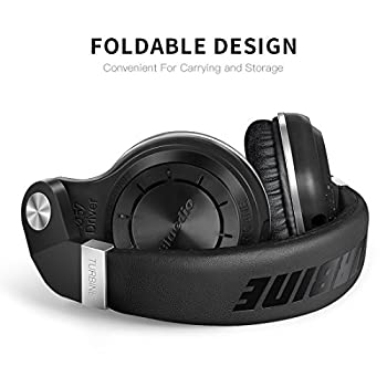 Bluedio T2s Bluetooth Headphones On Ear With Mic, 57mm Driver Rotary Folding Wireless Headset, Wired & Wireless Headphones For Cell Phonetvpc, 40 Hours Play Time (Black) 3