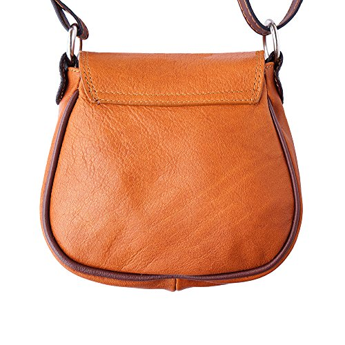 B024 Bronceado marròn Florence Bolsa Tipo Leather Market Hombro De Saddle Hrq80Hz
