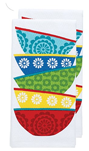Kitchen Textiles (T-fal Textiles Double Sided Print Woven Cotton Kitchen Dish Towel Set, 2-pack, 16