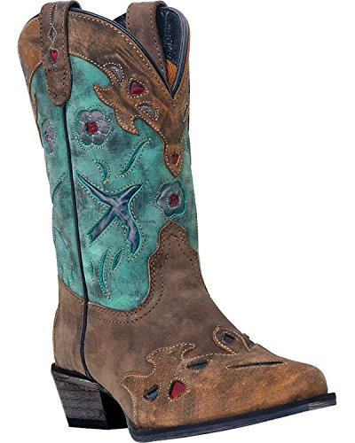 Clothes Western Boots (Dan Post Girls' Blue Bird Cowgirl Boot Snip Toe Brown (3.5 M US))
