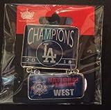 Baseball 2018 NLCS Dodgers PIN National League WEST Champions Dangler PIN World Series Champions
