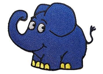 Alles Meinede Gmbh Die Sendung Mit Der Maus Blauer Elefant 78 Cm 61 Cm Bügelbild Aufnäher Applikation Tier Tiere