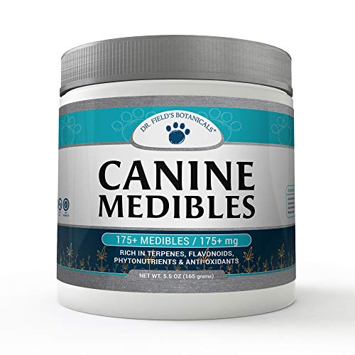 Dr. Field's Botanicals | Canine Medibles Hemp Dog Chews | Perfect Aid for Stress Relief, Anxiety, Hip and Joint Pain, Excessive Barking, Storms and More | Veterinarian Approved Formula For Sale
