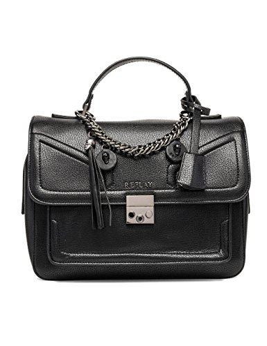 REPLAY Fw3697.000.a0283 - cartella Donna, Schwarz (Black), 10x11x15 cm (B x H T)