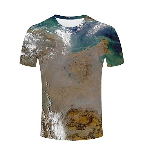 3D Graphic Printing Men T Shirts Planet Earth Ocean Land Casual Novelty Tees Round Neck T-Shirts - Liverpool Street Shop 3