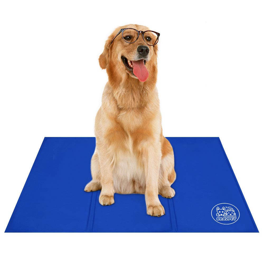 Bravpet Pet Cooling Mat Pet Self cooling pad mat bed mats Comfort for Cats and Dogs Large by Bravpet (Image #1)