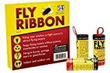 S&T 527001 Sticky Fly Ribbon, 10 Pack, Yellow