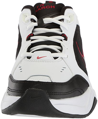 Nike Mens Air Monarch Iv (4e) Cross Trainer Bianco / Nero / Rosso Varsity