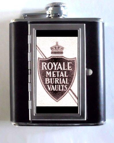 Amazon com : ROYALE METAL BURIAL VAULTS 1920s RETRO AD 5oz Flask