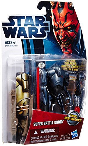 Star Wars: Movie Legends 2012 Episode II Attack of the Clones 3.75 inch Super Battle Droid Action Figure by Hasbro (Star Wars Super Battle Droid Action Figure)