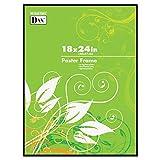 DAX N16018BT Coloredge Poster Frame, Clear Plastic Window, 18 x 24, Black