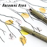 Archival Pens for thumbprint guest books - Black fine tip drawing pen, for Alternative Guest Books, Fade Proof, Smear Proof