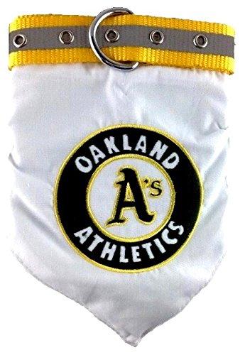 Pets First MLB BANDANA - OAKLAND ATHLETICS DOG BANDANA with Reflective & Adjustable DOG COLLAR, - Bandana Dog Logo