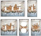 Got You Covered Seashell Starfish Beach Light Switch Cover Plate Home Decor