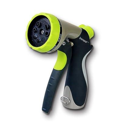 Innoo Tech Garden Hose Nozzle 8 Spray Modes High Pressure Hand Sprayer For  Car Washing
