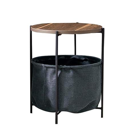 ZHIRONG Mesa Lateral/Mesas Laterales con cestas de ...