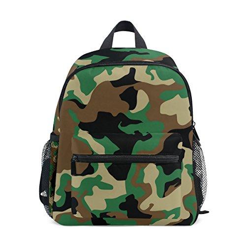 (Mini Kids Backpack Daypack Military Camo Woodland Camoflage Pre-School Kindergarten Toddler Bag for Travel Girls Boys)