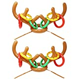 #9: Joyin Toy Set of 2 Inflatable Reindeer Antler Toss Game for Christmas Party-One Size Fit All (2 Antlers 12 Rings)