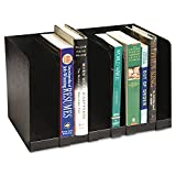 Buddy Products - Six Section Book Rack w/Dividers, Steel, 15 x 9 1/4 x 9 1/4, Black - Sold As 1 Each - Five removable dividers.