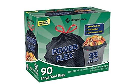 Member's Mark 39 Gallon Power-Guard Drawstring Yard Bags 2 Pack