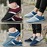 Haoricu Hot Sales Men's Athletic Shoes New Style Fashion Men Boys Casual Mesh Comfortable Breathable Sneakers Flat Shoes Gym Sport Shoes