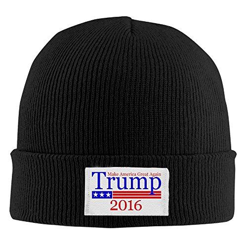 Donald Trump Unisex Winter Knitting Wool Warm Hat One Size Black (Wigs Minneapolis)