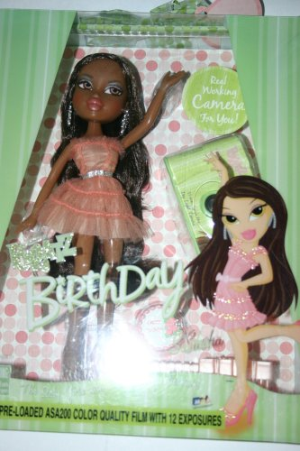 Bratz Birthday Sasha Doll with Real Working Camera for -