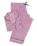 Malabar Bay Women's Hopi Pajama Set Small Pink