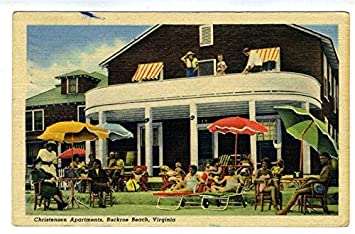 Review Christensen Apartments Postcard Buckroe Beach Virginia