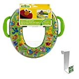"Sesame Street ""Framed Friends"" Soft Potty Seat with Toilet Tank Potty Hook"