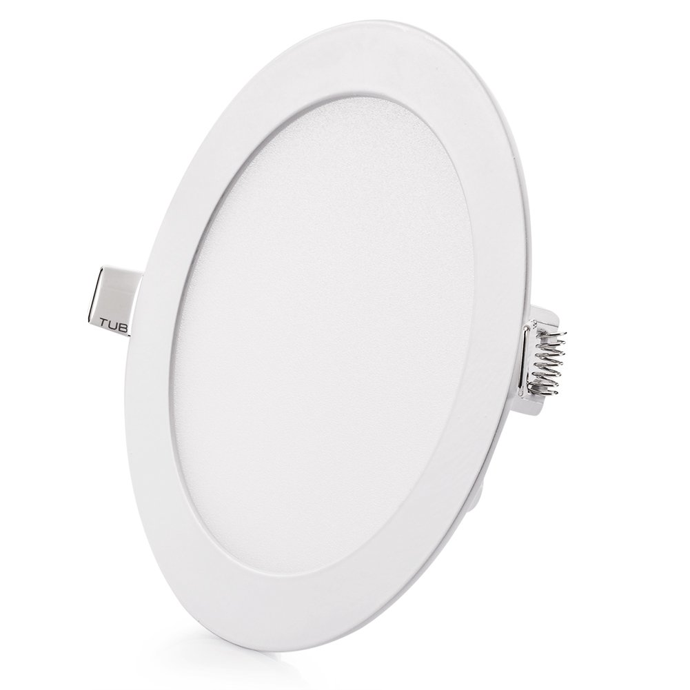 SAYHON Ultra-Thin 9W 5-inch LED Retrofit Recessed Lighting Kit Fixture, Non-Dimmable Round Flat Panel Ceiling Light Downlight, 3000K Warm White 135MM Cut Hole for Hallway/Kitchen/Bedroom/Home/Office