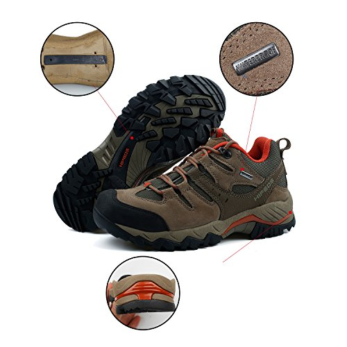 Pictures of HIFEOS Hiking BootsMens Womens Unisex Suede Leather 5