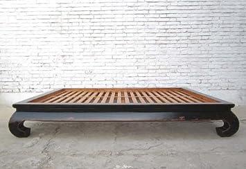 Breites Bett china breites bett opiumbett doppelbett mit lattenrost schwarzes