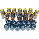 5 Ml Amber Glass Bottle W/euro Dropper. Black Cap.