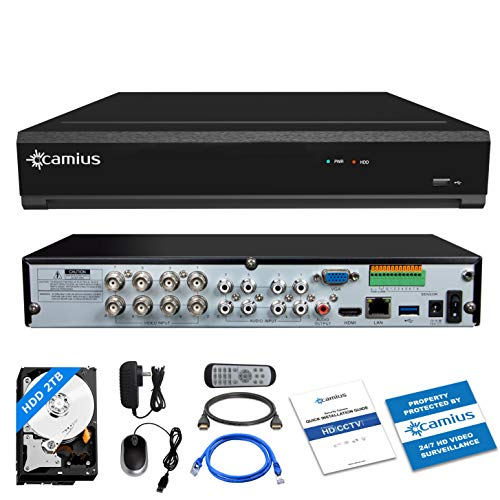 Camius 8MP 4K Home Security Surveillance Camera System 8 Channel CCTV DVR Video Recorder with 2TB Hard Drive 4 Channels IP Cameras as NVR PC Mac Software, Browser, Camera App View Trivault4K184