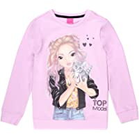 Top Model Niñas Sudadera, Sweatshirt, Sweat, Rosa