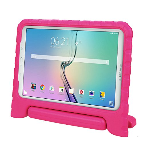 [XKTTSUEERCRR Tab E 9.6 Case - Shockproof Lightweight Kids Convertible Portable Handheld EVA Protective Shell Cover Case For Samsung Galaxy Tab E / Tab E Nook 9.6 Inch 2015 Tablet - Rose] (Galaxy Base)