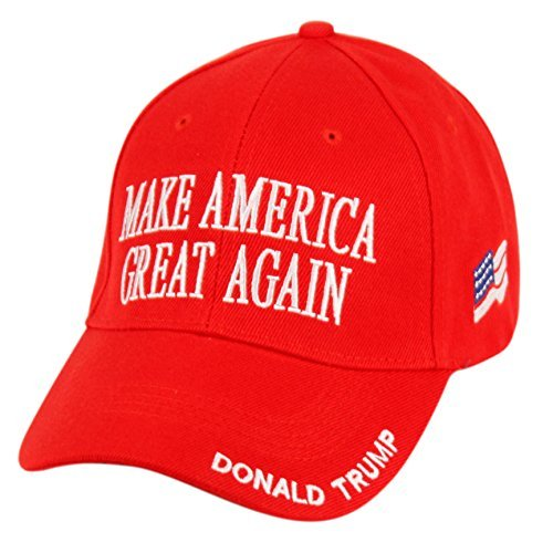 Donald Trump Make America Great Again Hats Embroidered (Red) ()