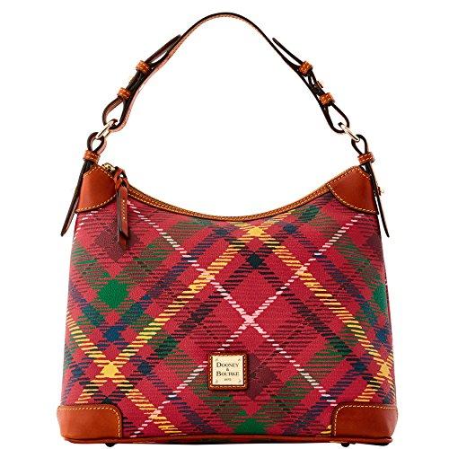dooney-bourke-hobo-shoulder-bag-purse-handbag-wine