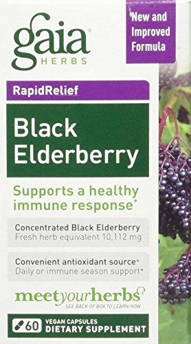 Gaia Herbs Black Elderberry Capsules, 60 Count