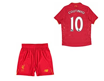 9912121c5 Image Unavailable. Image not available for. Colour  Liverpool FC 10  Philippe Coutinho Home Football Soccer Jersey Kids ...