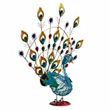 Solar Lighted Colorful Peacock Stake, Turns On Automatically At Night