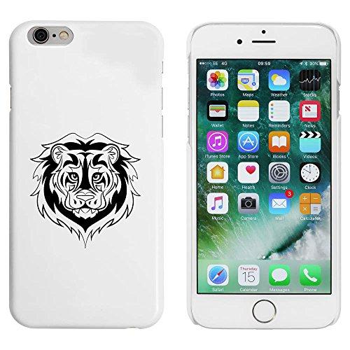 Blanc 'Tête de Lion Tribale' étui / housse pour iPhone 6 & 6s (MC00051046)