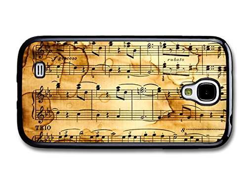 Sheet Music Treble Clefs Vintage Cute Design coque pour Samsung Galaxy S4