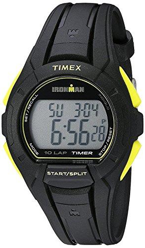 Timex Men's TW5K93800 Ironman Essential 10 Full-Size Black/Yellow Resin Strap Watch