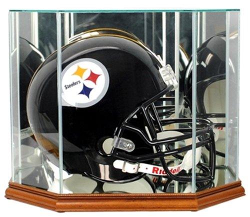 Perfect Cases NFL Octagon Full Size Football Helmet Glass Display Case, Walnut ()