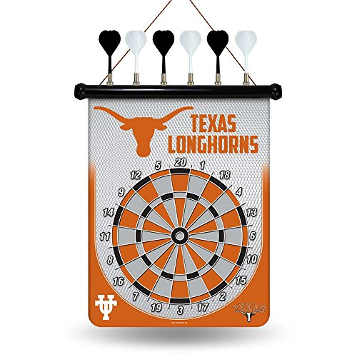 NCAA Texas Longhorns Magnetic Dartboard, Orange, 18-inch by 16-inch Magnetic Dartboard Nfl Darts