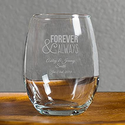 Amazon Com 72 Pack Personalized Engraved Forever And Always 9 Oz
