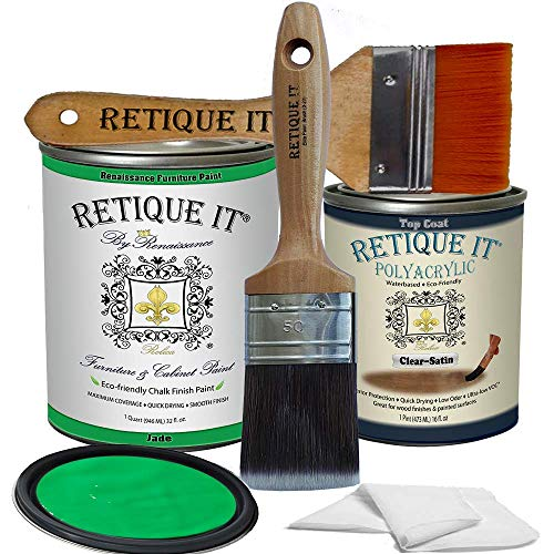 Retique It Chalk Furniture Paint by Renaissance DIY, Poly Kit, 47 Jade, 32 Ounces