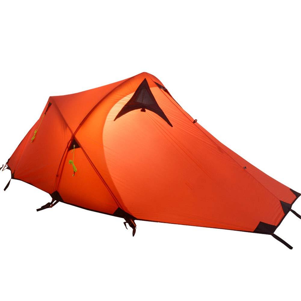 テント、超軽量アルミロッドキャンプテント2人二重層防水3-4 シーズンハイキング登山旅行テント 295*135*100CM B B07L2QY6FW